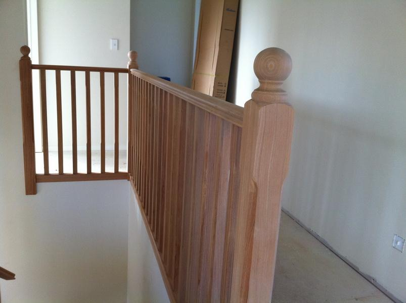 Chamfered Timber Balustrade with Balltop Newel Posts