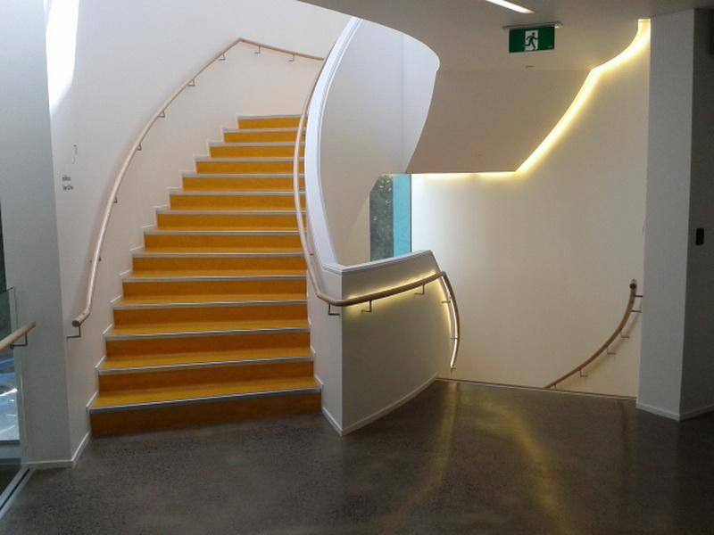 Curved Handrails on the Wall