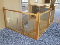 Glass Balustrade with Wooden Newel Posts