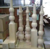 Large Turned Wooden Table Legs