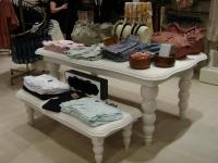 Shop Display Table with Turned Legs