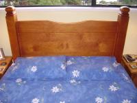 Wooden Bed Headboard with Square Turned Posts