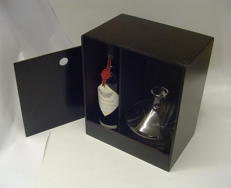 Polished Wine Display Box