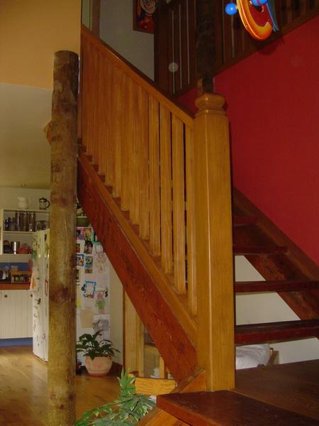 Square Wooden Balustrade with Turned Posts