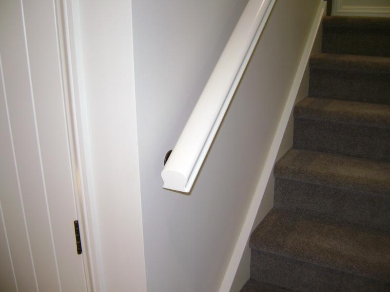 Wooden Handrail Painted White