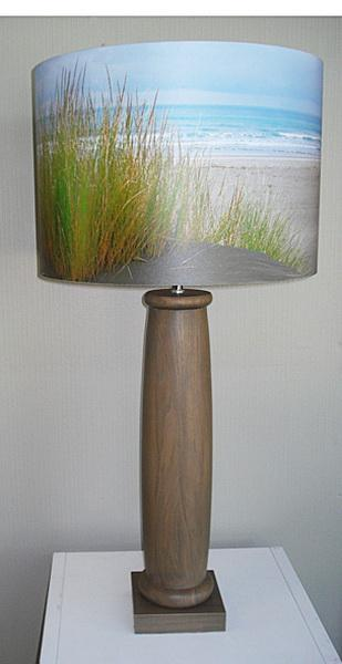 Wooden Table Lamp Turned