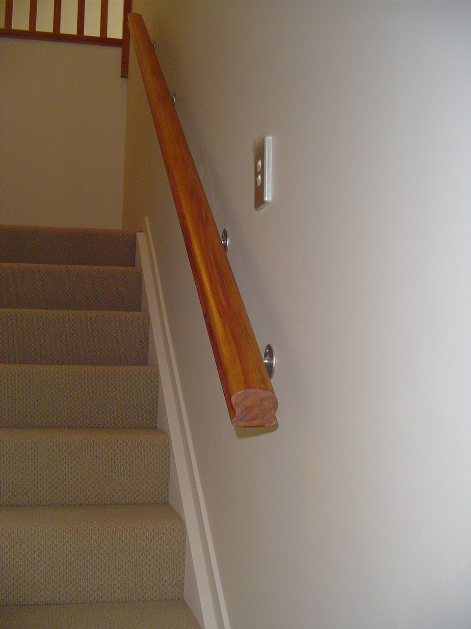 wood handrails for stairs | Handrails