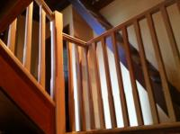 Timber Beveled Balustrade with Pyramid Top Posts