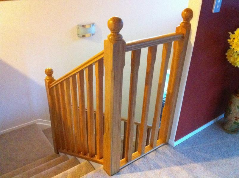 Wooden Chamfered Balustrade with Balltop Posts